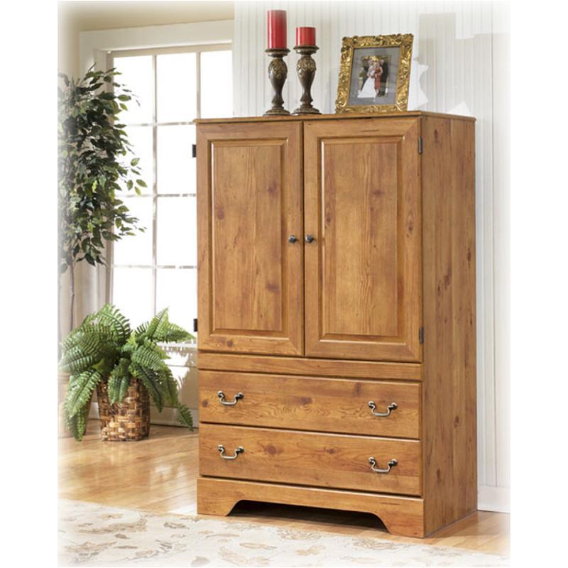 B219-49 Ashley Furniture Armoire Replicated Pine Grain