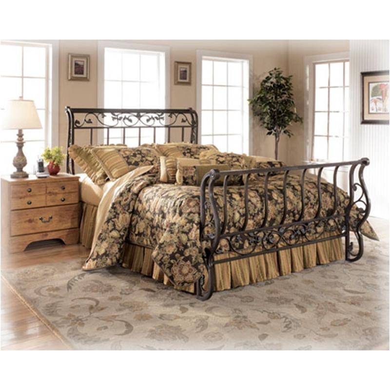 B219 57 Ashley Furniture Bittersweet Bedroom Bed. B219 57 Ashley Furniture Bittersweet Queen Metal Sleigh Bed