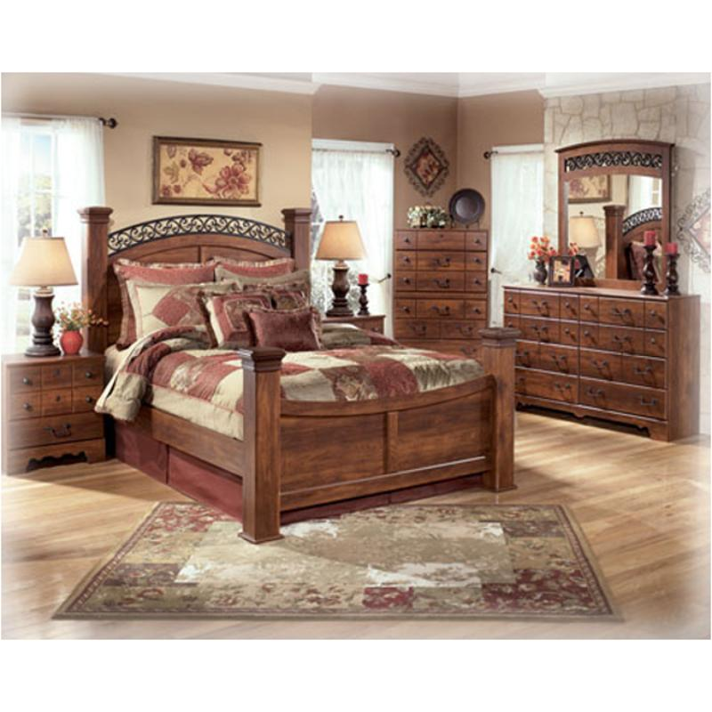 B258-78 Ashley Furniture Timberline King Poster Bed
