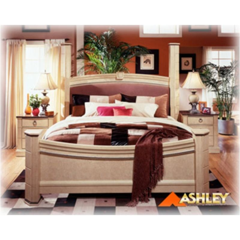 B310 99 Ashley Furniture Ashton Castle Bedroom King Poster Rails