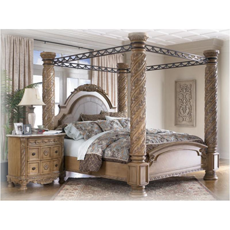 B547 172 Ashley Furniture South Coast King Poster Bed With Canopy