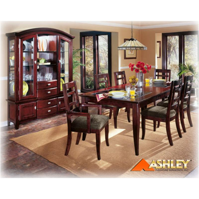 D274 02a Ashley Furniture Protege Gridbck Armchr Rta Merlot Fnsh