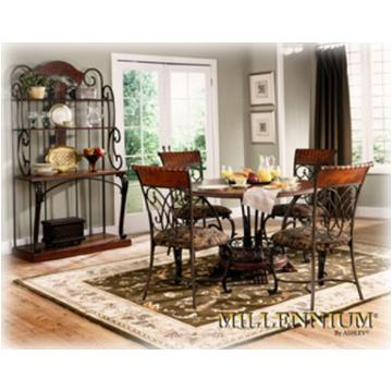 d445-04 ashley furniture st. lauret side chair rta brown finish