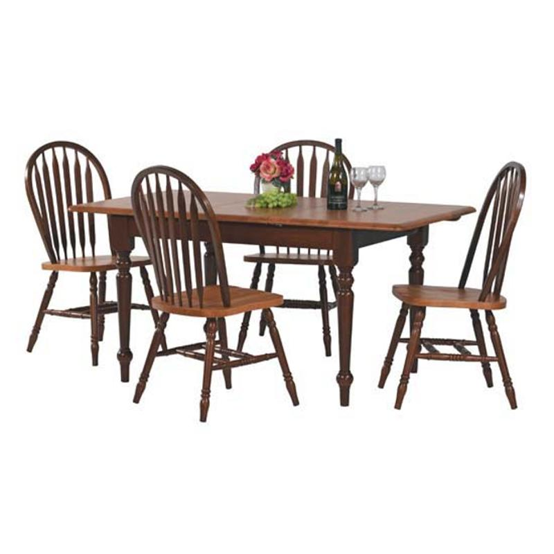 53661f Winners Only Furniture Farmhouse Fruitwood 60in Leg Table Fruitwood