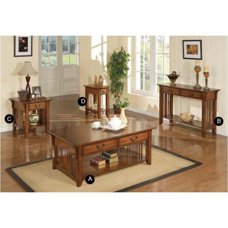 Azh101e Winners Only Furniture Zahara   Mission Oak 14in End Table   Medium  Oak
