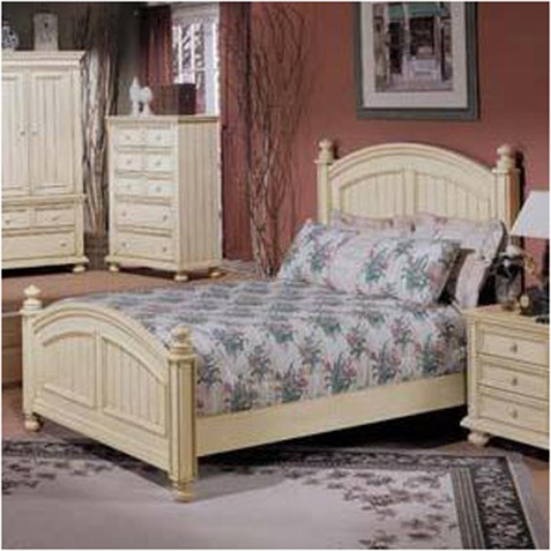 Bb1001q H Winners Only Furniture Cape Cod   Buttermilk Bedroom Bed