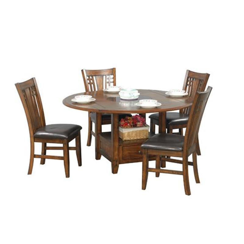 Genial Dzh4260 T Winners Only Furniture Zahara   Medium Oak 60in Table With Lazy  Suzan   Medium Oak