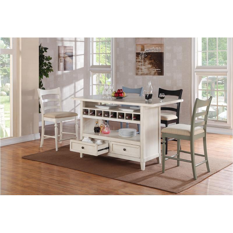 2222 20 I E C I Furniture Four Seasons Antique White Island