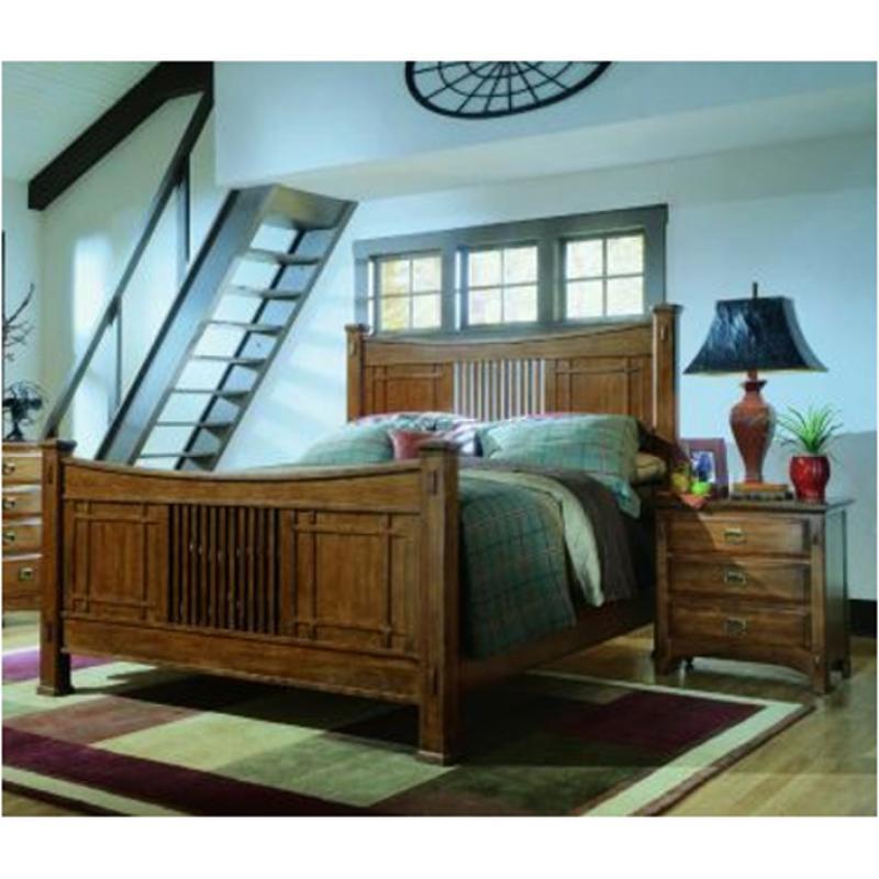 648250 Universal Furniture Artisan Oak Bedroom Queen Panel Bed