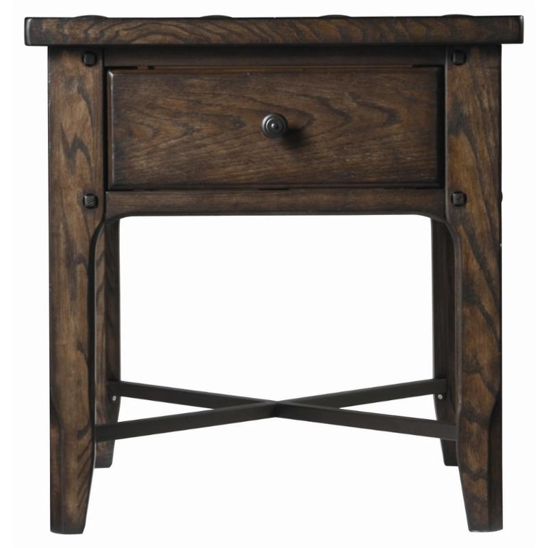 026802 Universal Furniture Great Rooms Whiskey Barrel Millhouse End Table