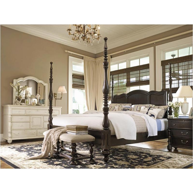 932260 Universal Furniture Paula Deen Home   Tobacco Bedroom Bed