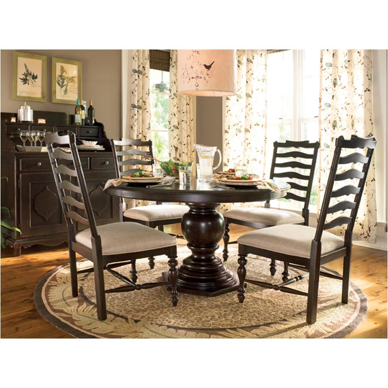 932655 Tab Universal Furniture Round Pedestal Table Tobacco