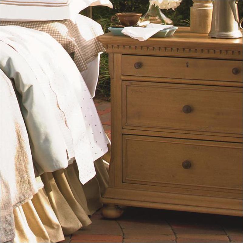 192350 Universal Furniture Paula Deen Down Home   Oatmeal Bedroom Nightstand