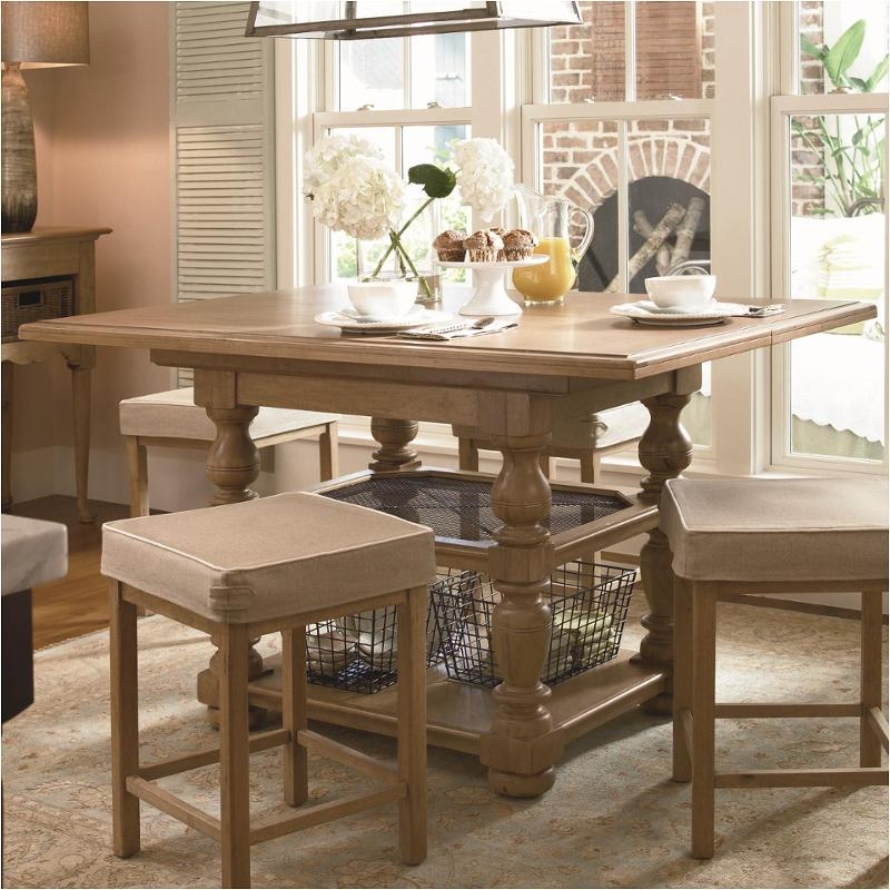 192654-tab Universal Furniture Paula Deen Down Home - Oatmeal Dining Room Counter Height Table & 192654-tab Universal Furniture Gathering Table Set
