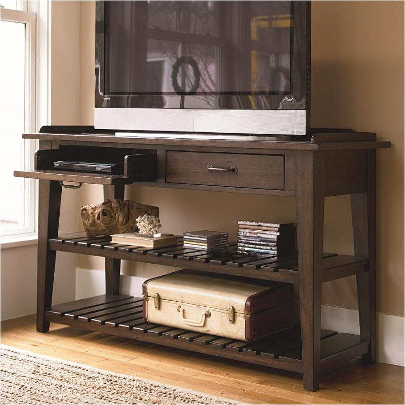 193803 Universal Furniture Tv Console Serving Table Molasses