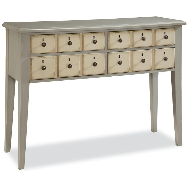 396803 Universal Furniture Paula Deen River House   Oyster Shell Apothecary  Console   Oyster Shell